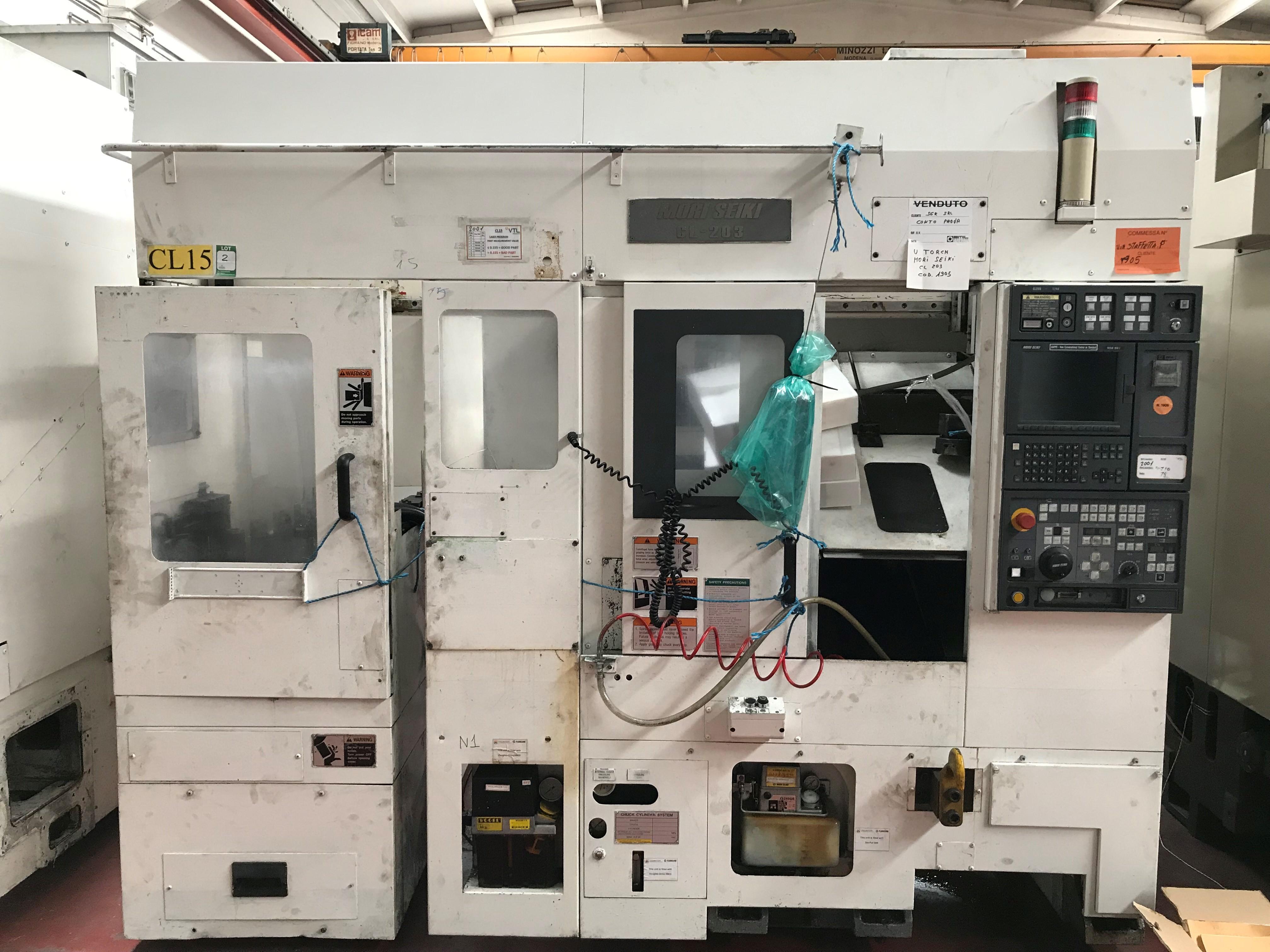 Sale of CNC gantry lathe MORI SEIKI Mod  CL 203, CNC MSG 803